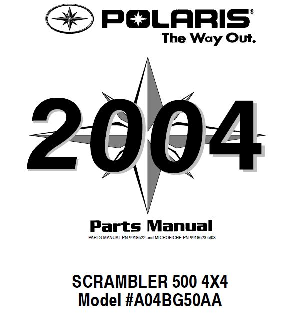 POLARIS SCRAMBLER 500 4X4 PARTS MANUAL *PDF DOWNLOAD