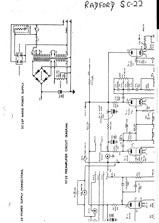 Radford Sc-22 Amplifier service repair workshop manual