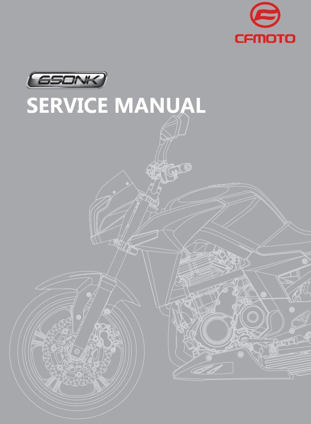 Cfmoto Moto Cf650nk Service Repair Manual English Eu1108