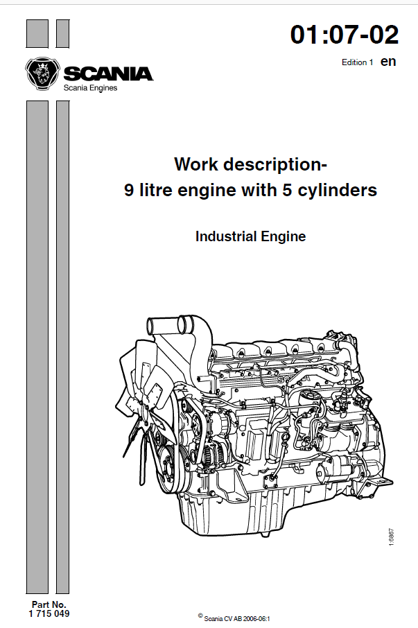 Scania Industrial sel 9 litre engine with 5 cylinders Service Repair on industrial ac system diagram, industrial dc motor diagram, industrial furnace diagram, industrial valve diagram,