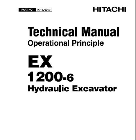 Hitachi EX1200-6 Hydraulic Excavator Service Repair Manual