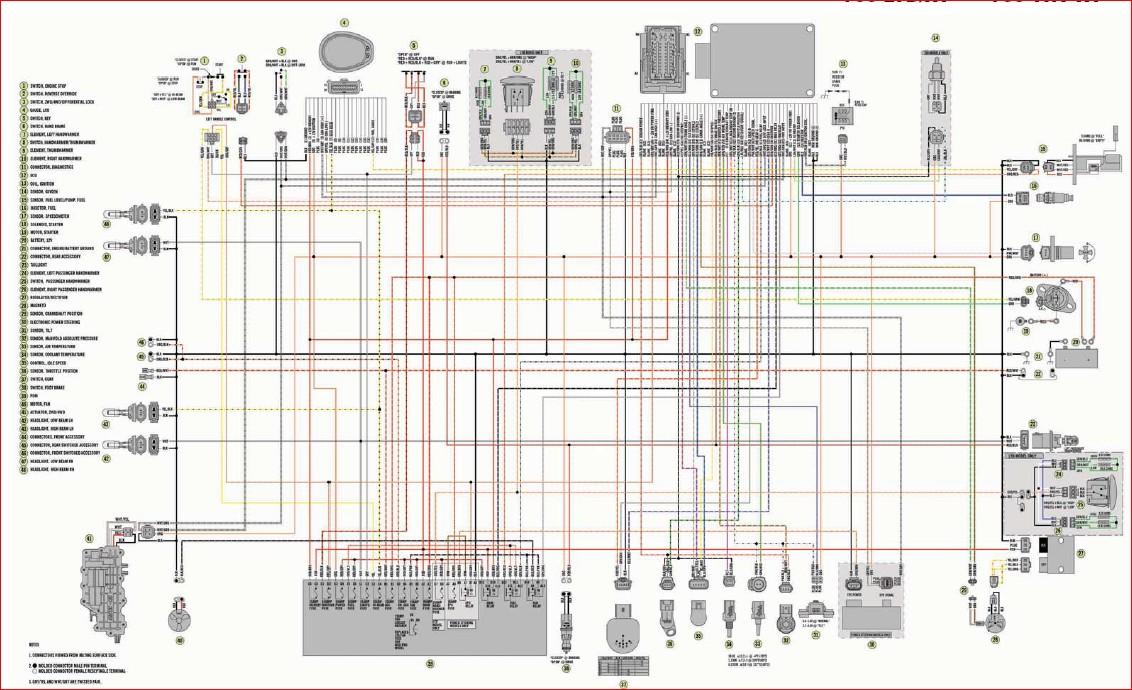 Arctic Cat Complete Factory Atv Wiring, Quad Wiring Diagram