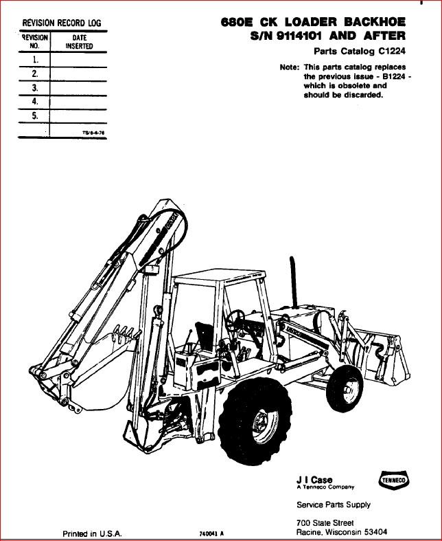 Case Backhoe Parts Manual Guide