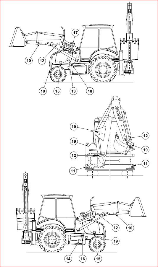 Case 580sr Super R 590sr Super R 695sr Super R Backhoe