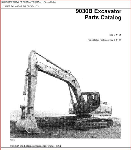 Case 9030b Excavator Parts Catalog Manual-PDF DOWNLOAD