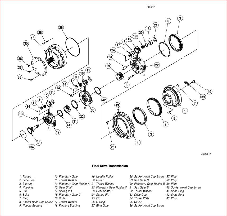 CASE 9050B Excavator Service Repair Workshop Manual