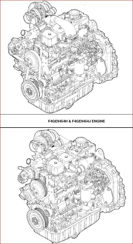 Case Engine Repair Manual For Backhoe Loader   F4ge9454h