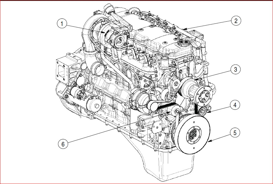 CASE ENGINE REPAIR MANUAL FOR BACKHOE LOADER ( F4GE9454H