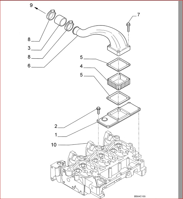 Ford New Holland L185 Skid Steer Loader Parts List Manual