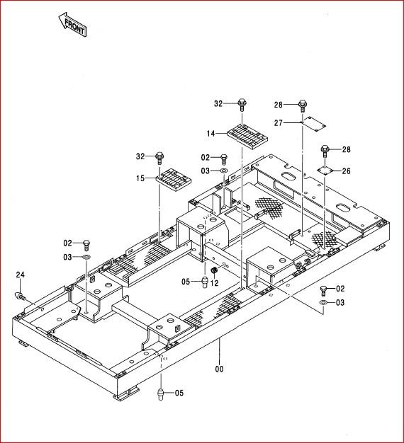 Hitachi Ex2500-5 Excavator Parts Catalog Manual SN 000501