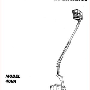 Jlg Boom Lifts 40ha Service Repair Workshop Manual