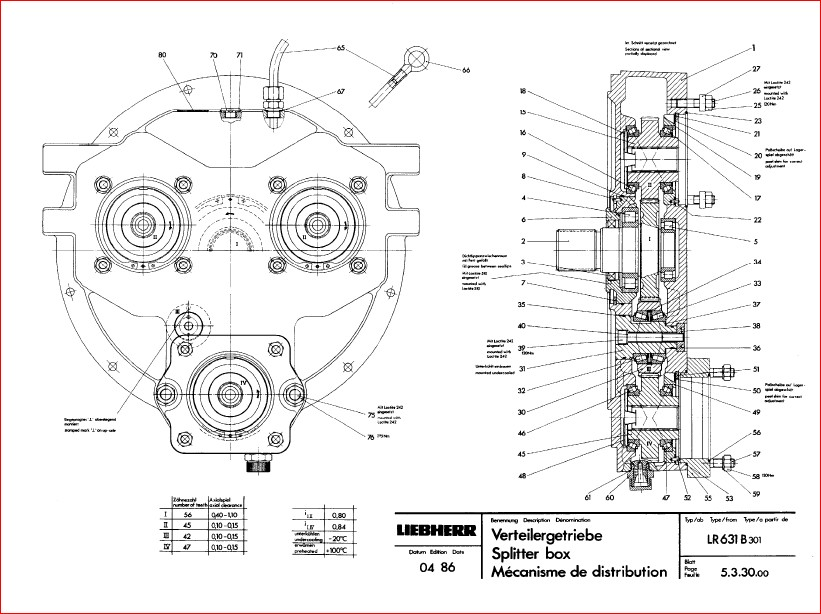 Liebherr Lr 611 621 631 641 Crawler Loader Service Manual