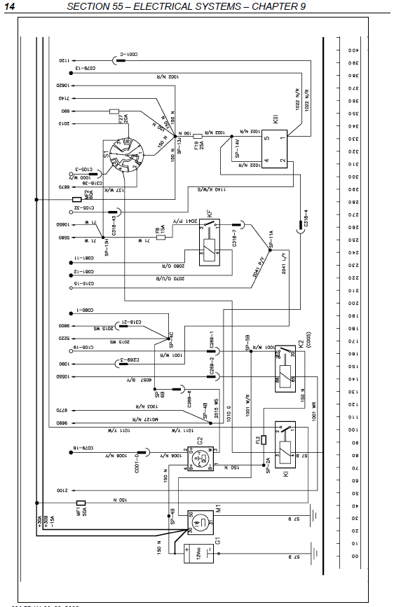 New Holland Tractor Wiring Diagrams Electrical System Manual Tm 120 Tm 130 Tm 140 Tm 155