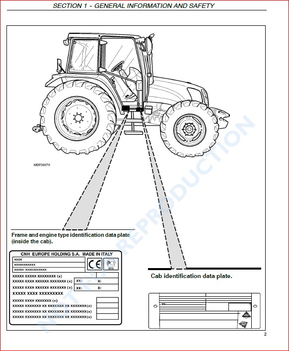 New Holland T5030 T5040 T5050 T5060 T5070 Tractor