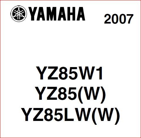 Yamaha Yz85 Shop Manual Pdf Download Heydownloads Manual Downloads
