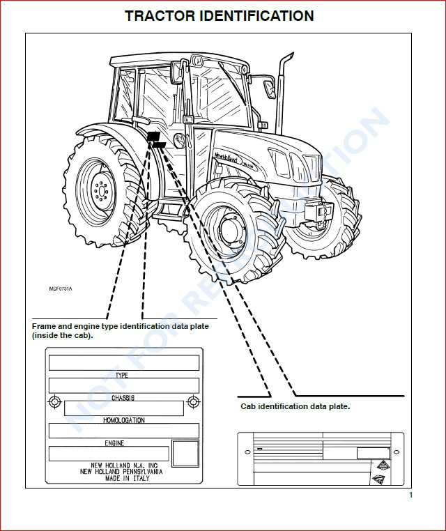 New Holland Tn60da Tn70da Tn75da Tractor Operators Manual
