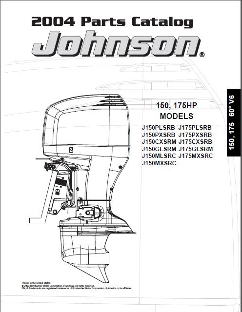2004 Johnson Evinrude 150hp 175hp V6 2-stroke Parts