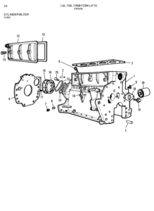 Allis Chalmers 700 706 706b Forklift Parts Catalog Manual