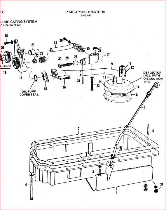 Allis Chalmers 714b 715b Tractors Parts Catalog Manual