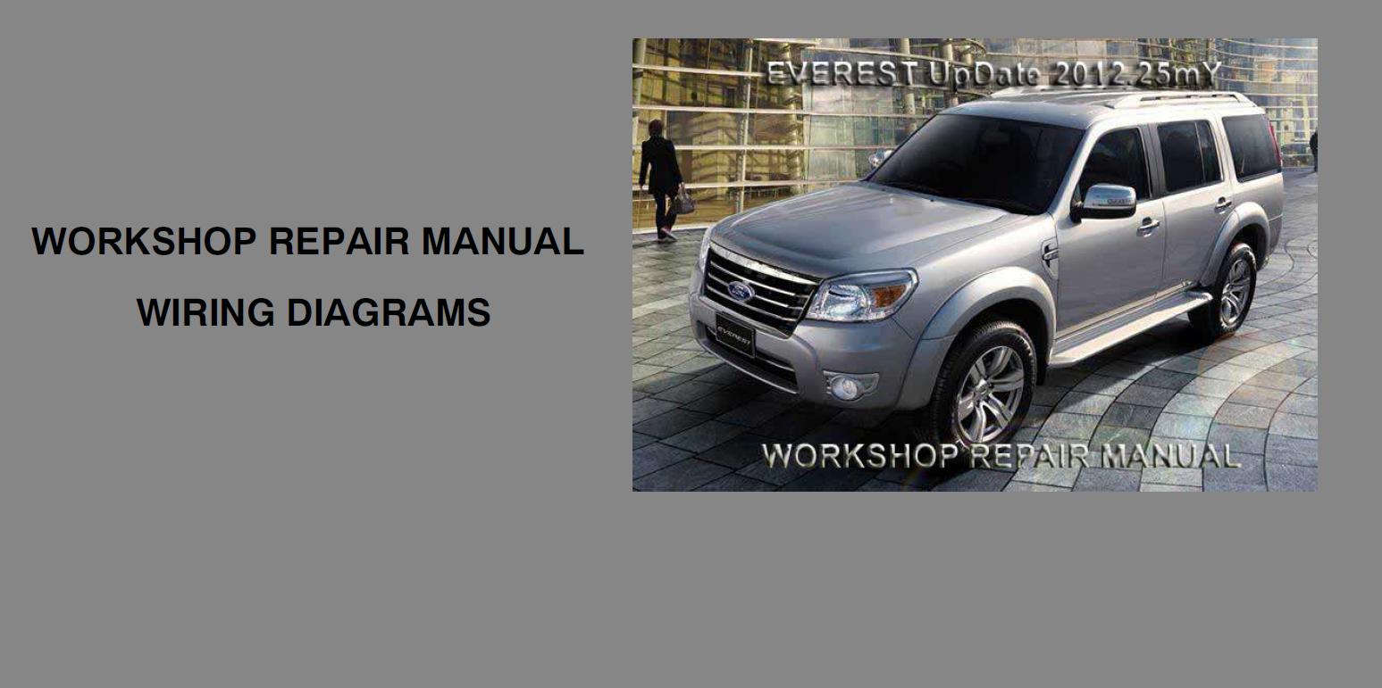 Ford Everest Shop Manual 2012-2013
