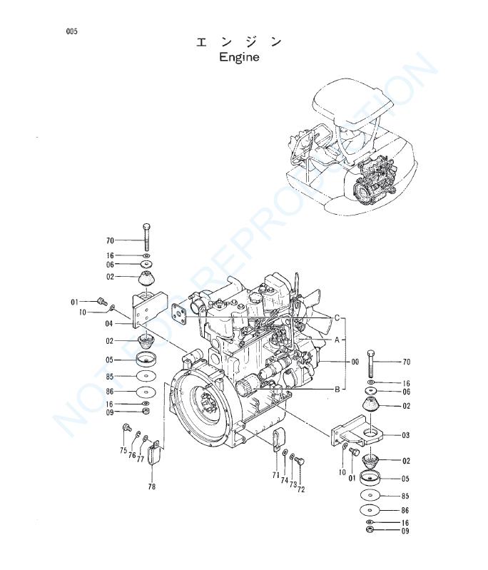 Hitachi Ex30 Mini Excavator Parts Catalog Manual Serial