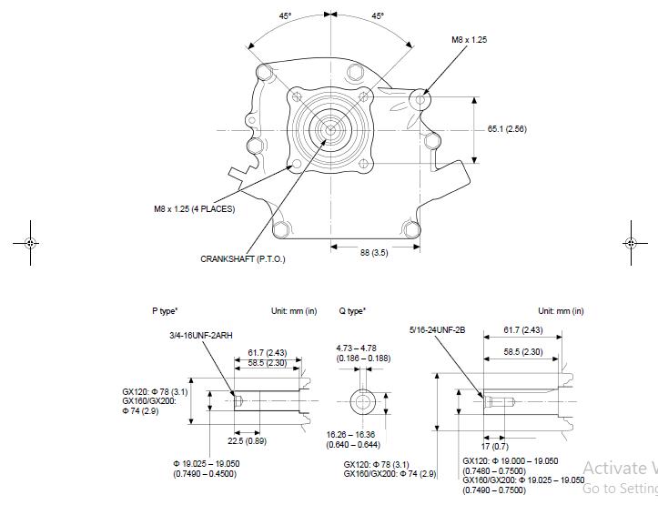 Honda Gx120 Gx160 Gx200 Ut2 Engine Shop Manual Pdf Download Heydownloads Manual Downloads