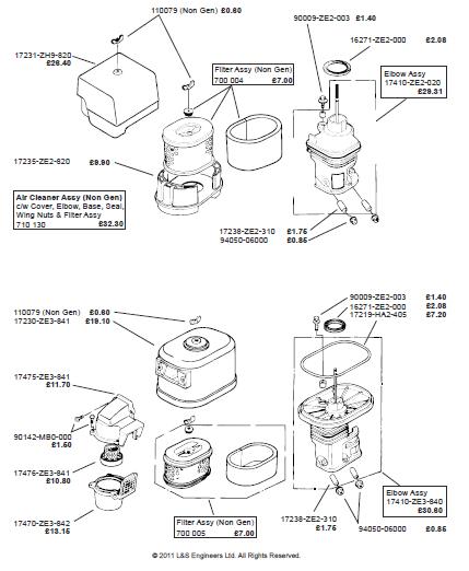 honda gx240 gx270 gx340 gx390 engine 3 manual set service
