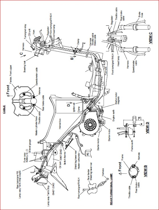 Hyosung Prima Sf50 Sf 50 Factory Service Repair Manual - PDF DOWNLOAD ~  HeyDownloads - Manual Downloads   Hyosung Scooter Wiring Diagram      HeyDownloads