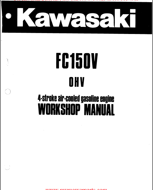 Kawasaki FC150V 4 Stroke Air Cooled Gas Engine Service
