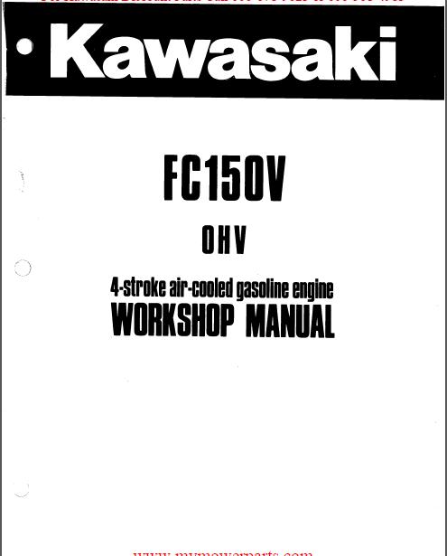 Kawasaki FC150V 4 Stroke Air Cooled Gas Engine Service