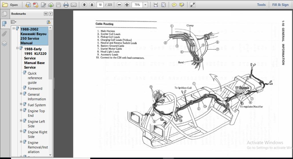 Kawasaki Jh1100 1992 Factory Service Repair Manual EBook @ 48 ...