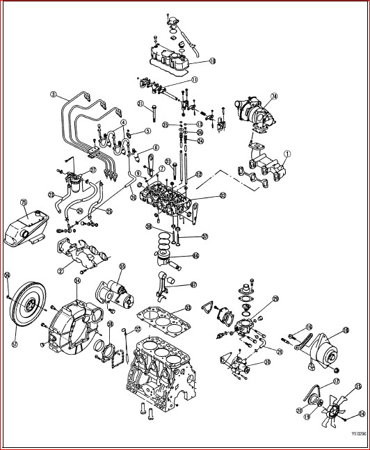 Komatsu 68e 74e 78e 82e 84e 88e Series Engine Full Shop