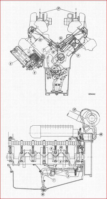 Man Industrial Diesel Engine D2530 Me Mte D2540 Mte Mle