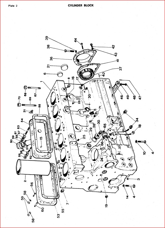 Massey Ferguson D400c Crawler Dozer Service Parts