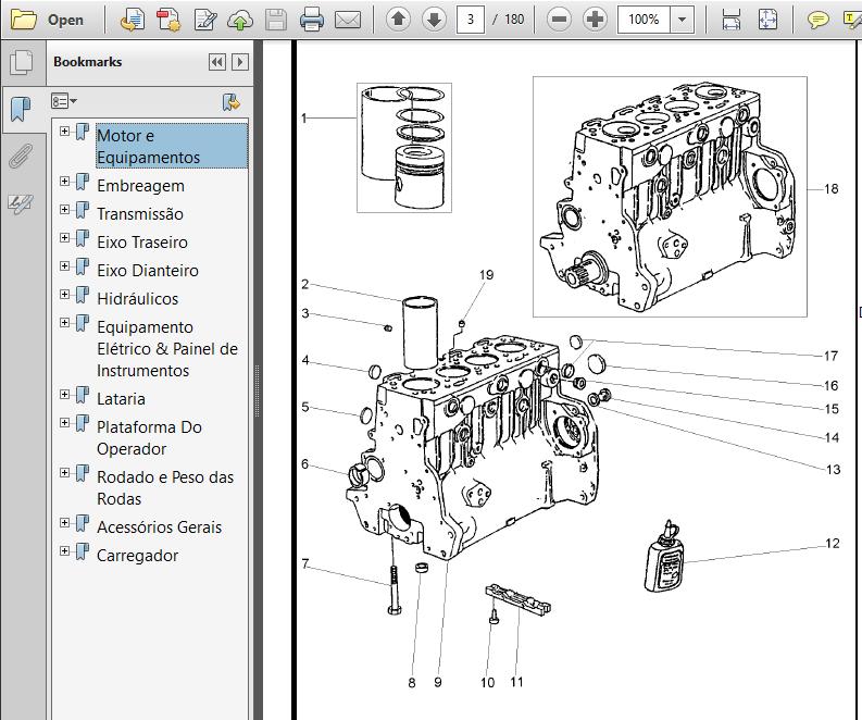 Massey Ferguson Tractor Mf86 Backhoe Master Parts Manual
