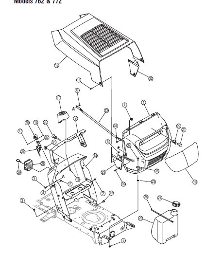 Mtd Transmatic Lawn Tractor 760 To 779 Parts Manual