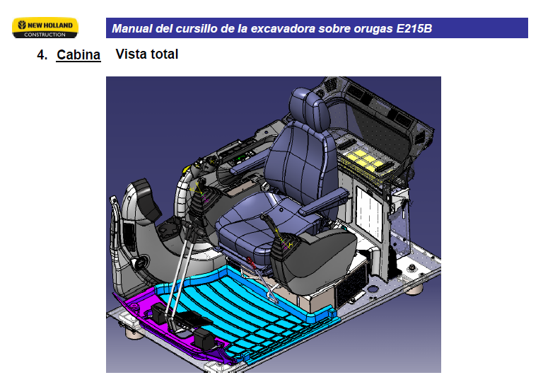 New Holland E215b Excavator Wiring Diagrams Manual In