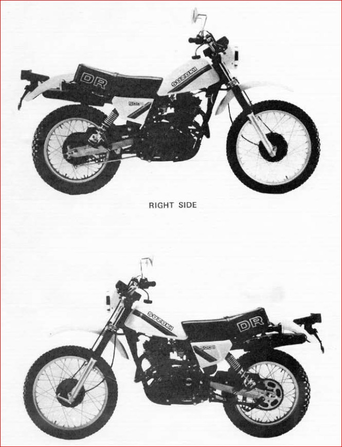 Suzuki Dr500s Dr500 Dr 500 Motorcycle 1981 Manual Guide