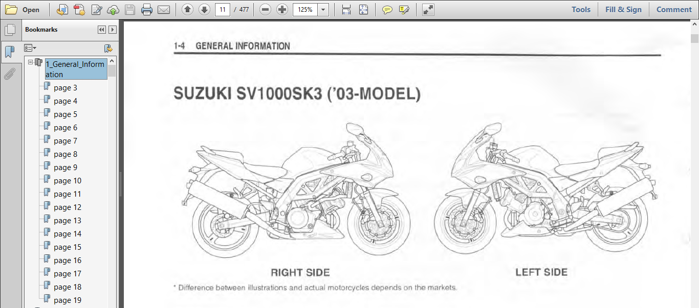 Suzuki Sv1000s D F K3 Motorcycle Service Repair Manual