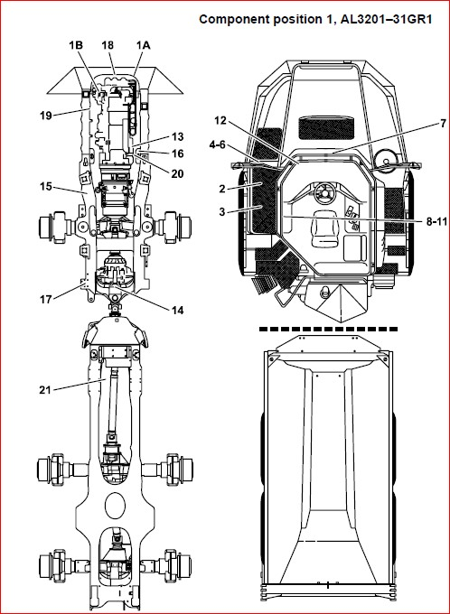 Volvo A25d A30d A35d A40 Adt Wiring Electrcal Diagram Manual
