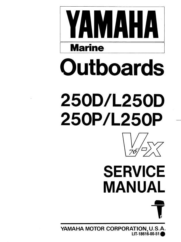 Yamaha Outboards Marine 250d  L250d 250p  L250p