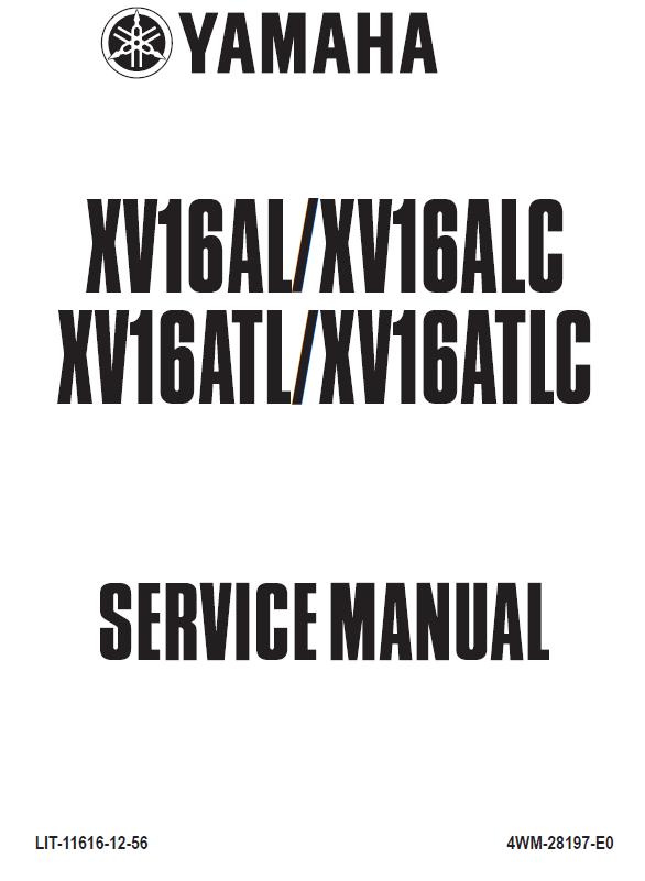 Yamaha Road Star Silverado XV17AT Shop Manual 2004-2007