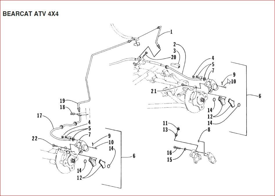 Arctic Cat Bearcat 454 4x4 Atc Replacement Parts Manual