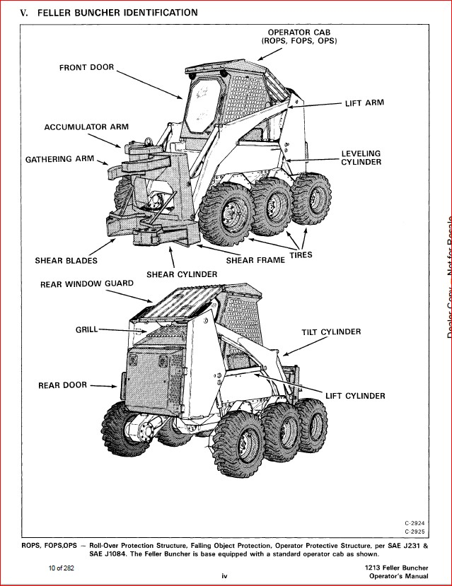 BOBCAT 1213 FELLER BUNCHER SERVICE REPAIR WORKSHOP MANUAL