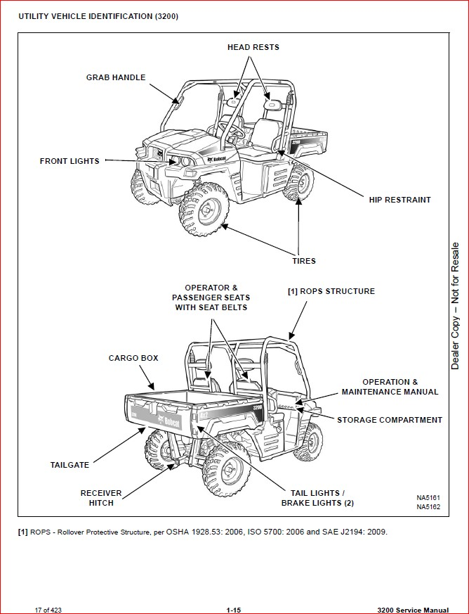 BOBCAT 3200 UTILITY VEHICLE SERVICE REPAIR WORKSHOP MANUAL