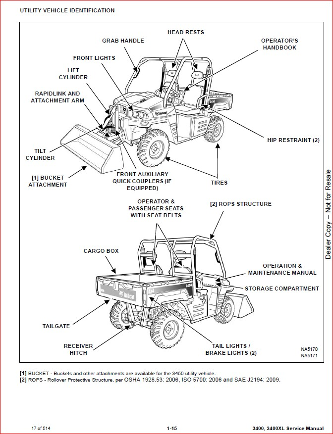 BOBCAT 3450 UTILITY VEHICLE SERVICE REPAIR WORKSHOP MANUAL