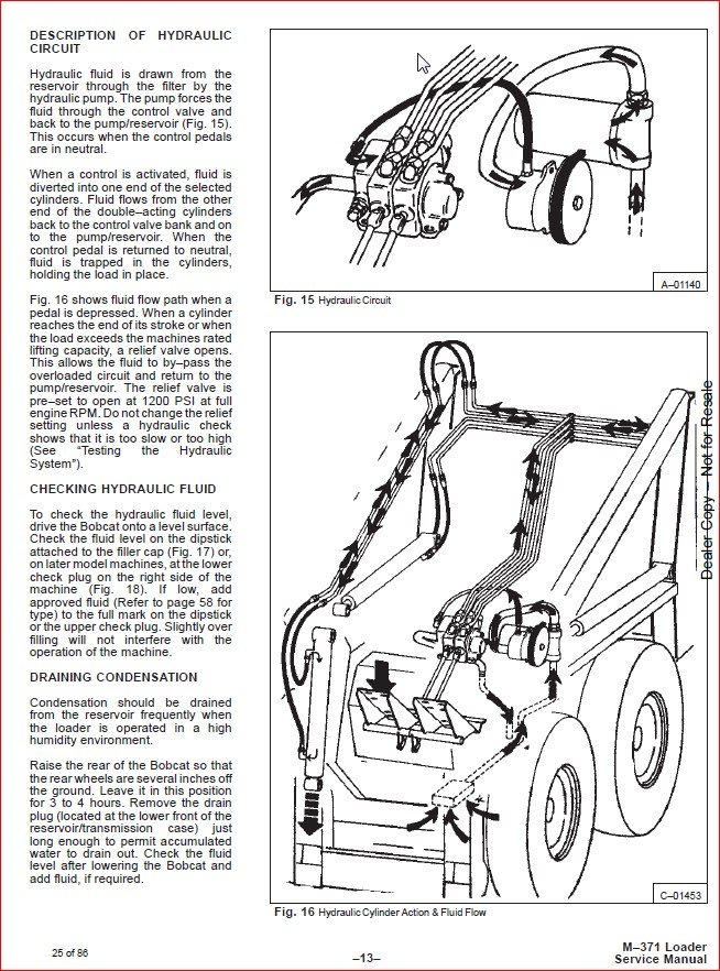 BOBCAT 371 LOADER SERVICE REPAIR WORKSHOP MANUAL DOWNLOAD