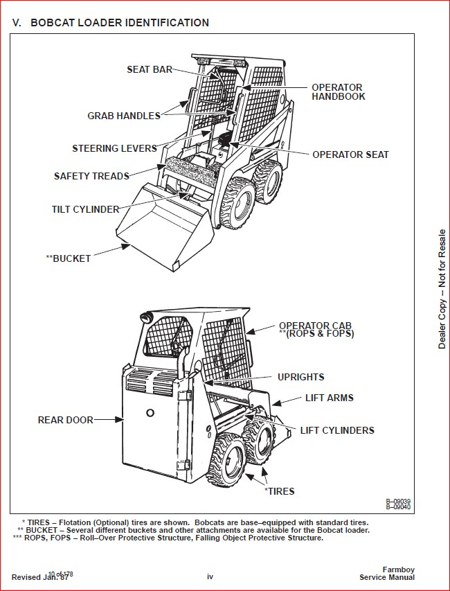 BOBCAT 440B FARMBOY SERVICE REPAIR WORKSHOP MANUAL