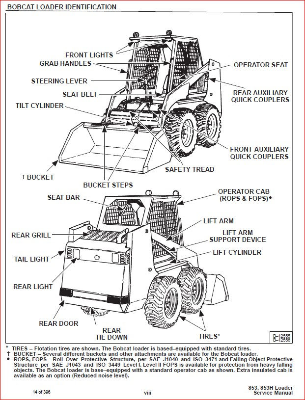 BOBCAT 853 853H LOADER SERVICE REPAIR WORKSHOP MANUAL