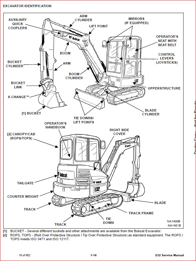 BOBCAT E32 COMPACT EXCAVATOR SERVICE REPAIR WORKSHOP